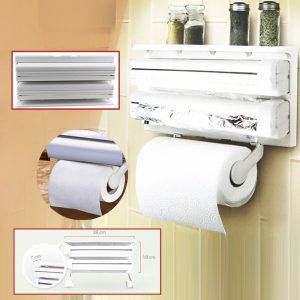 Triple Paper Dispenser - Plastic Wrap Frame