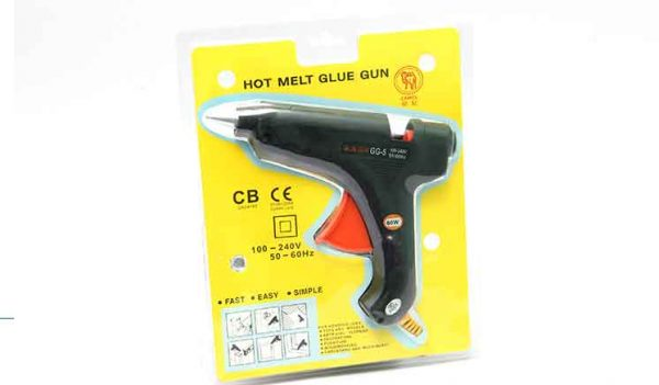 Hot Melt Gun with 6 Free Silicon Rods