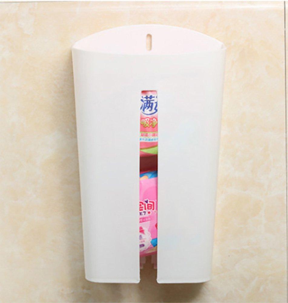 Mosquick- Grocery/ Plastic Bag Holder/Dispenser /Saver/Storage Box,Plastic White
