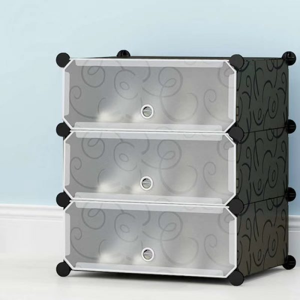 3 Cubes Storage Cabinet Shoe Rack