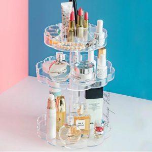 Acrylic 360 Rotating 3 Tier Cosmetic Organizer Best4Buy.pk