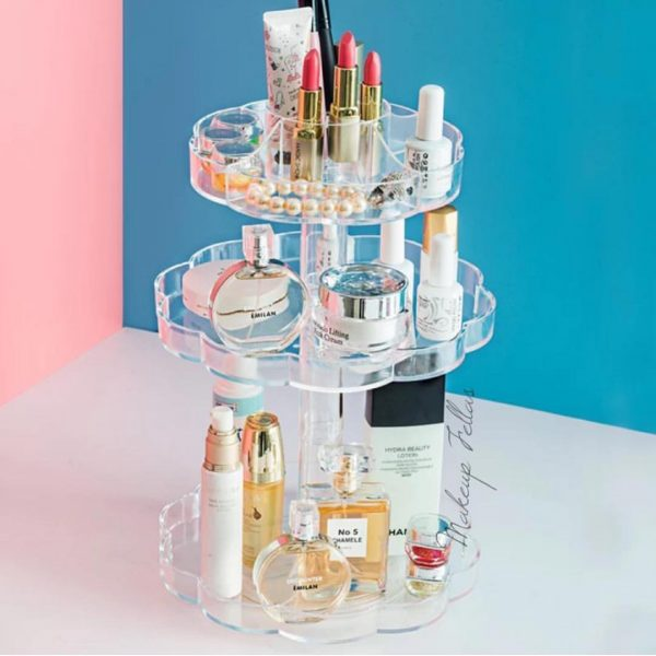 Acrylic 360 Rotating 3 Tier Cosmetic Organizer Best4Buy.pk