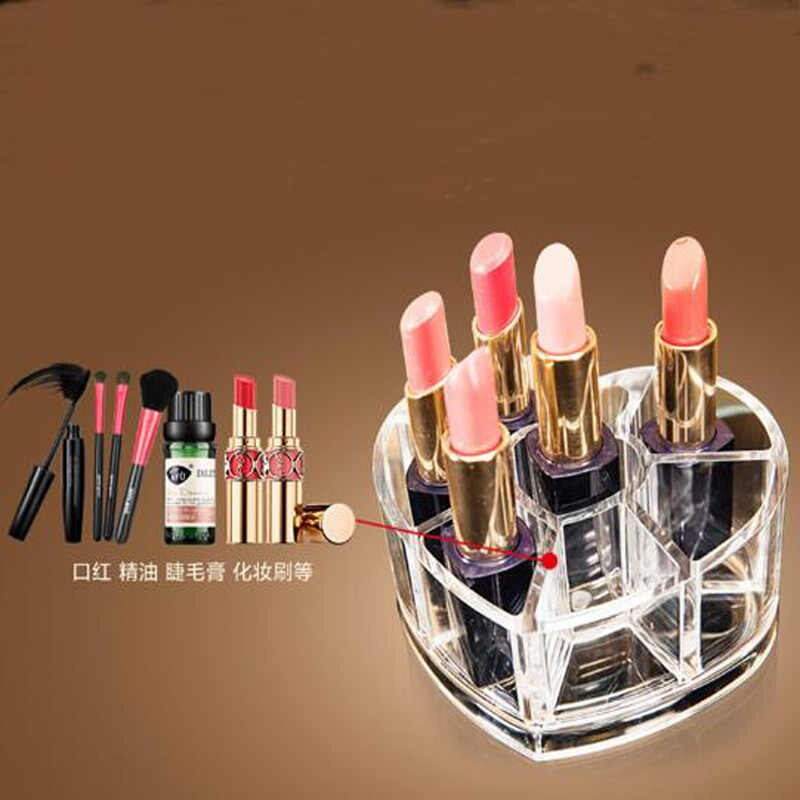 Cosmetic Organizer Acrylic Heart Shaped With 8 Grids Store